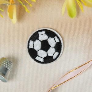 """Термоаппликация """"Футбольный мячик"""", d=3см, цвет белый/чёрный"""