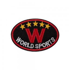 "Термоаппликация ""L"" №17  L074-3 world sports черный 8х5.3 см"