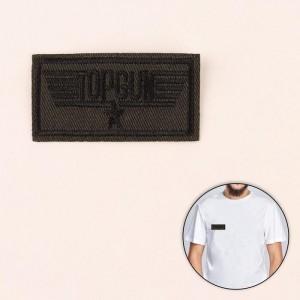 Термоаппликация «Topgun», 6,3 × 3,3 см, цвет хаки