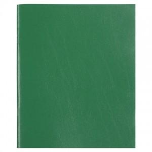 Тетрадь бумвинил, А5, 96 л., скоба, офсет №2 ЭКОНОМ, клетка, с полями, STAFF, ЗЕЛЕНЫЙ