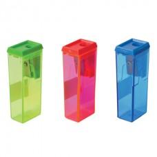 Точилка BEIFA с контейнером, прямоугольная, пластиковая, ассорти